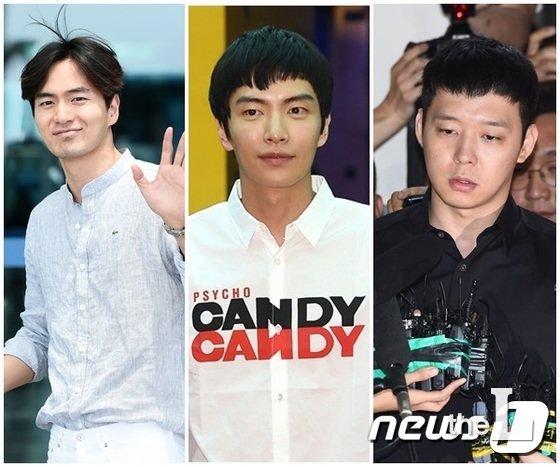 왼쪽부터 이진욱, 이민기, 박유천/사진=뉴스1