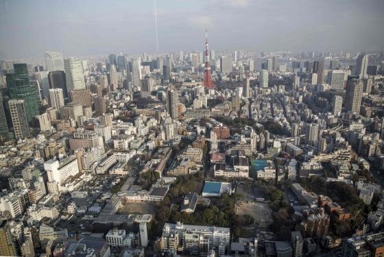 1월 20일 도쿄 도심의 모습/AFPBBNews=뉴스1