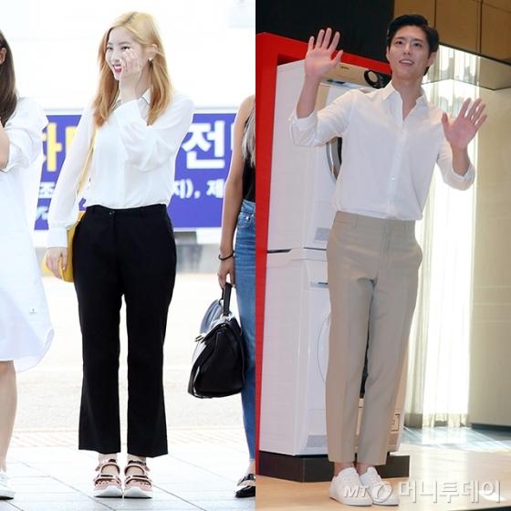 그룹 트와이스 다현(왼쪽)과 배우 박보검 /사진=뉴스1, 머니투데이DB