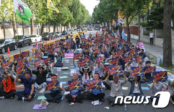 [사진]노동3권 쟁취 전국 동시다발 교사결의대회