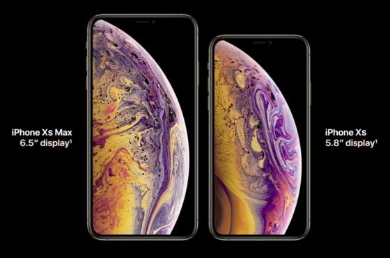 아이폰 Xs 맥스와 아이폰 Xs /사진=애플