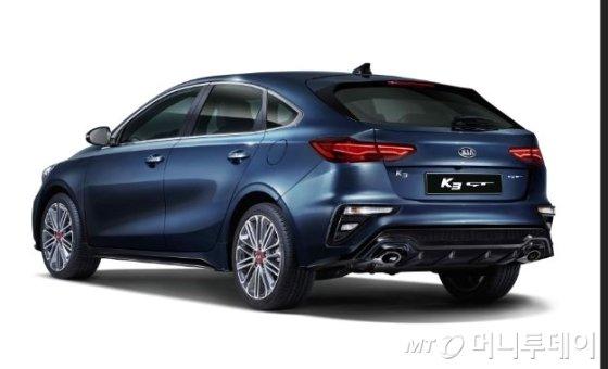 기아차 다음달 출시 'K3 GT' 외장디자인 공개
