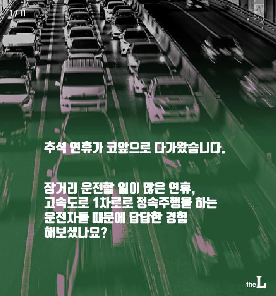 [카드뉴스] 고속도로 1차로, 정속주행하면?