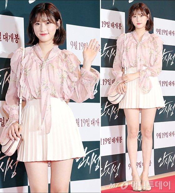 김새론 시사회 패션, 남다른 몸매 비율 '깜짝'
