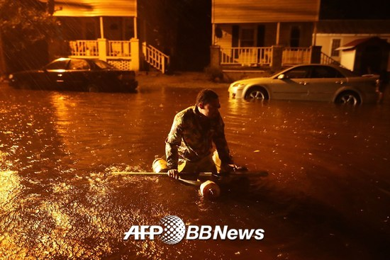 플로렌스로 침수피해를 입은 노스캐롤라이나주 뉴베른시. /AFPBBNews=뉴스1