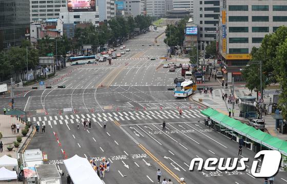 [사진]'오늘 하루 세종대로는 차 없는 거리'