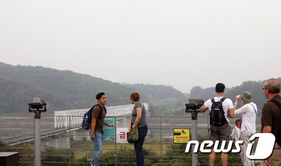 [사진]임진각 찾은 외국인 관광객