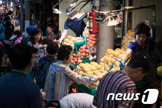 [사진]전통시장 '추석 대목'