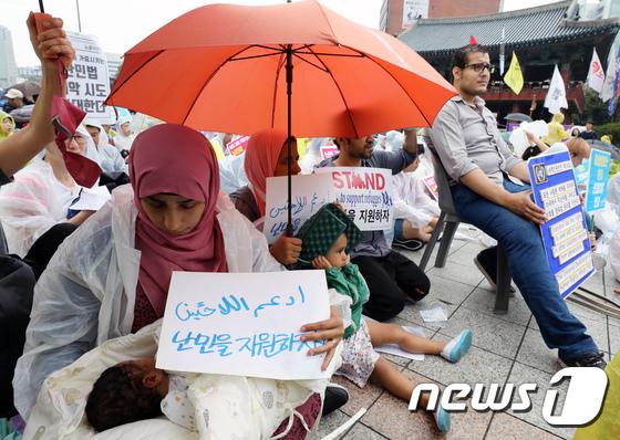 [사진]'우리 아기를 보호해주세요'