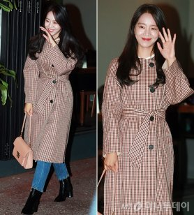 """신혜선 종방연 패션, 트렌치코트+데님…""""청순한 매력"""""""
