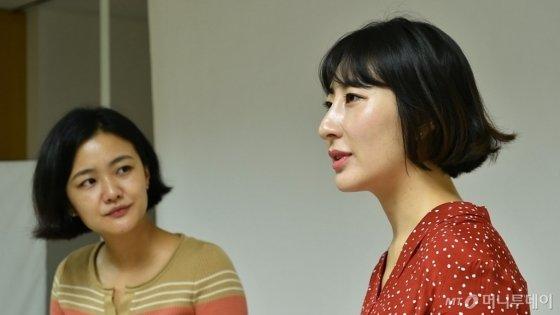 '서른, 결혼 대신 야반도주' 저자 김연우(왼쪽), 위경은씨. /사진=이상봉 기자