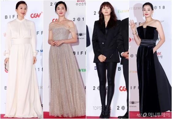 부산국제영화제에 참석한 배우 김희애, 수애, 이나영, 이하늬 /사진=김휘선 기자