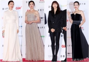 부산국제영화제 참석한 여배우가 '픽'한 드레스는?