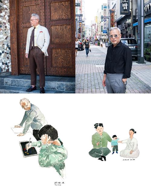 (위)슈트 장인 여용기 (아래)화가로 활동하는 이찬재 할아버지의 작품들./사진=여용기, 이찬재 인스타그램