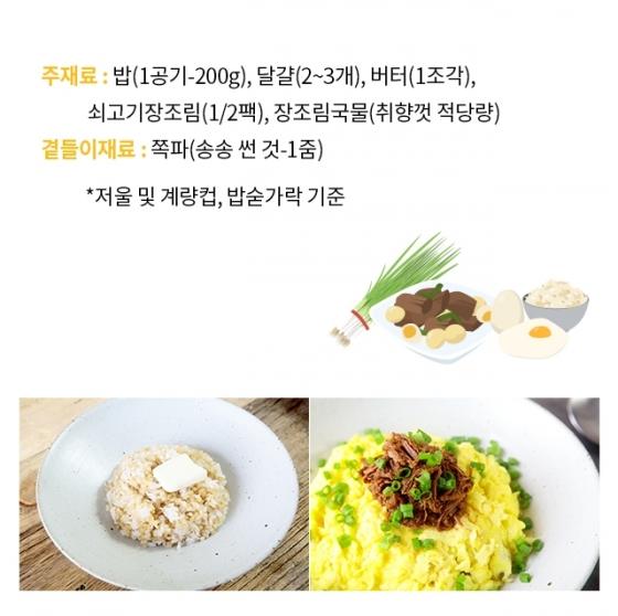 """[뚝딱 한끼] """"오늘의 혼밥 레시피""""… '장조림버터비빔밥'"""