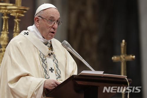【바티칸시티=AP/뉴시스】프란치스코 교황. 2018.01.06   <저작권자ⓒ 공감언론 뉴시스통신사. 무단전재-재배포 금지.>