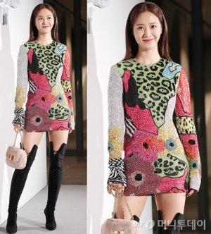 소녀시대 유리, 아찔한 패턴 드레스…