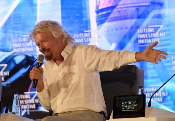 리처드 브랜슨 버진그룹 회장이 지난해 10월 사우디 리야드에서 열린 '미래 투자 이니셔티브'(FII)에 참석했다. /AFPBBNews=뉴스1