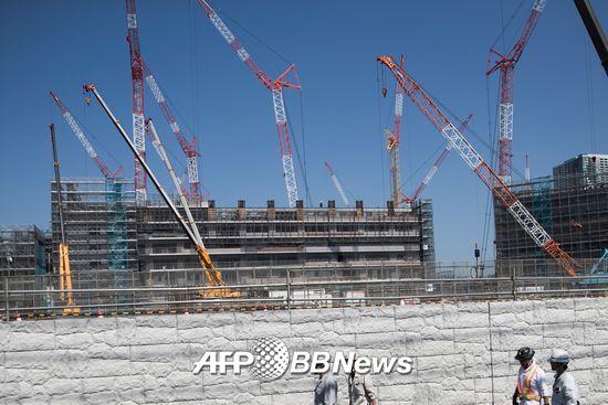 2020년 도쿄올림픽·패럴림픽을 위한 선수촌 건설현장. /AFPBBNews=뉴스1