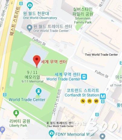뉴욕 그라운드제로 배치도/구글맵