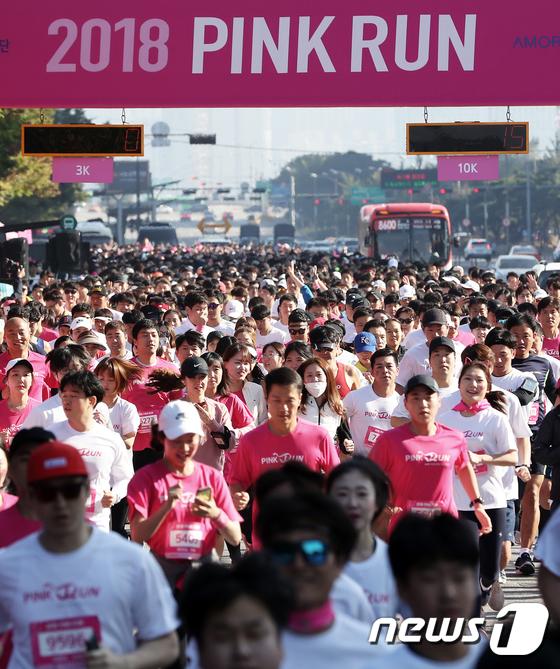 [사진]유방건강 의식 향상을 위한 '핑크런'