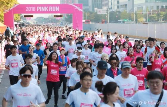 [사진]'유방건강 의식향상' 2018 핑크런 서울 대회