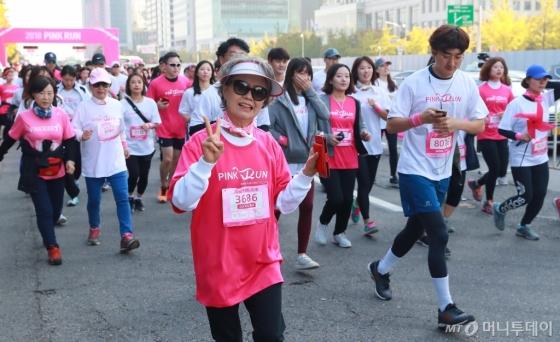 [사진]2018 핑크런 '건강한 삶을 위해'