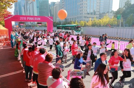 [사진]2018 핑크런 서울 대회 개최