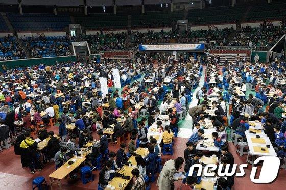 [사진]제1회 서울교육감배 학생바둑대회 성황