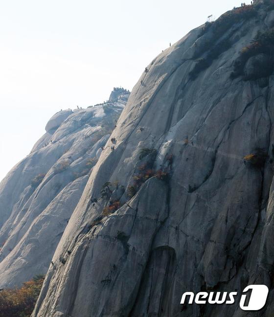 [사진]'암벽등반, 안전하게!'