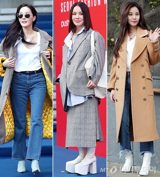 배우 엄지원, 가수 엄정화, 그룹 소녀시대 서현/사진=김휘선 기자, 김창현 기자