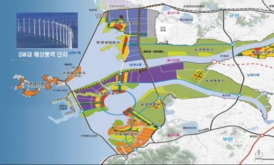 새만금 사업지 외 인근 해역 GW급 해상풍력단지 추진지/자료제공=새만금개발청