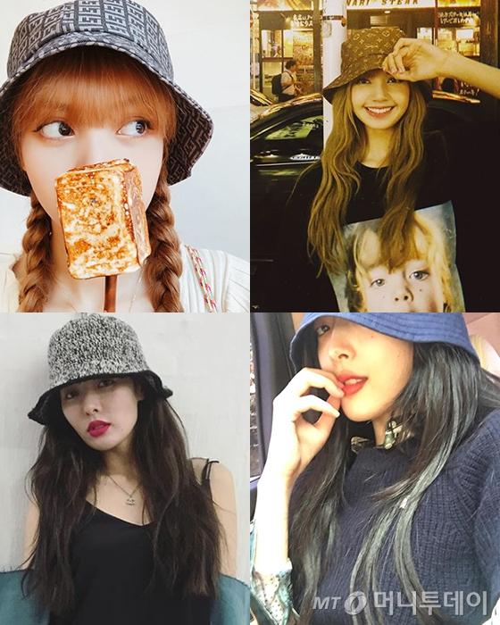 블랙핑크 리사(상단), 가수 현아, 가수 겸 배우 설리 /사진=리사, 현아, 설리 인스타그램