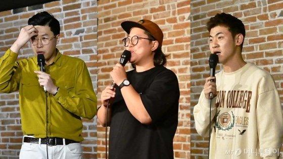 각자 자신의 무대를 만들어가는 스탠드업 코미디언들. 왼쪽부터 이용주, 최예나, 김민수 /사진= 이상봉 기자