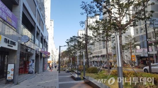 센트라스 아파트의 스트리트 상가 /사진=송선옥 기자