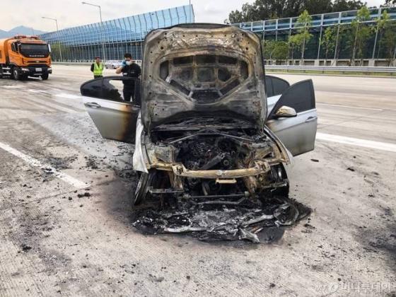 화재가 발생한 BMW 320d/사진제공=BMW 운전자