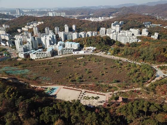 국립한국문학관 부지로 선정된 서울 은평구 기자촌 근린공원 전경. /사진 제공=문화체육관광부