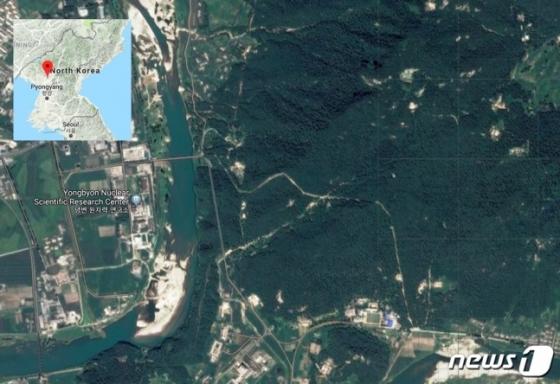 북한 영변 지역의 인공위성 이미지/사진=IBS