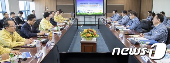 [사진]조명래 환경부 장관, 취임식 전 미세먼지 관리 행보