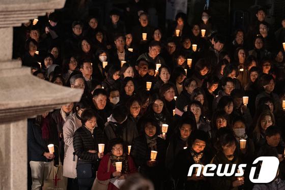 [사진]봉은사, 수능 촛불법회
