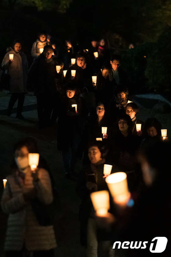 [사진]학업성취 기원 촛불법회