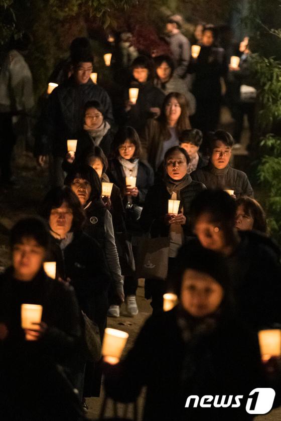 [사진]촛불 든 학부모의 마음