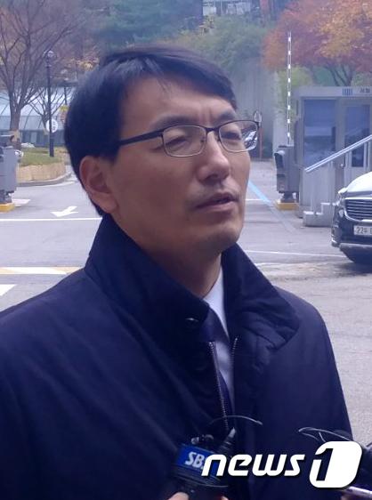 [사진]'사법 농단' 관련 참고인 출석하는 서기호 전 의원
