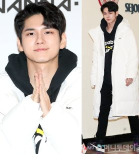 """워너원 옹성우, 화사한 패딩 패션…""""역시 옹비드"""""""