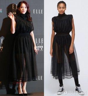 산다라박 vs 모델, 관능적인 시스루 드레스