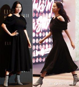 장윤주, 우아한 블랙 드레스 자태…체크 포인트 '눈길'