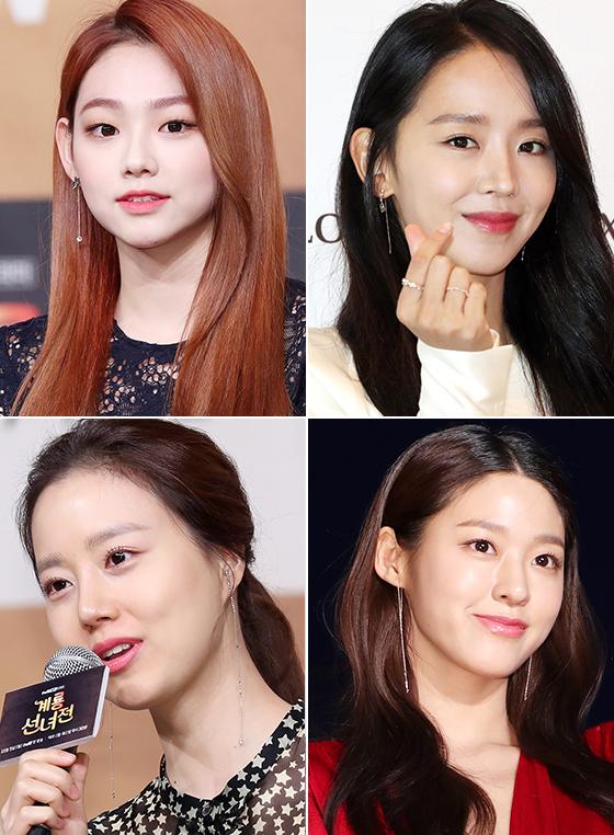 그룹 구구단 미나, 배우 신혜선, 문채원, 그룹 AOA 설현/사진=머니투데이 DB