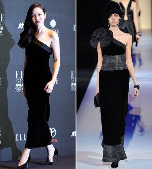 손예진 vs 모델, 우아한 벨벳 드레스…