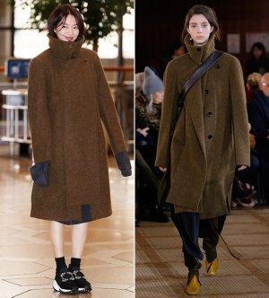 신민아 vs 모델, 같은 옷 다른 느낌…