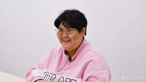 지난달 20일, 뷰티크리에이터·유튜버 배리나씨가 머니투데이를 찾았다./사진=김소영 기자